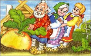 Внучка за бабку, бабка за дедку, дедка за репку