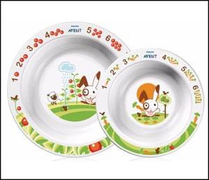 Две тарелки: большая и маленькая