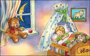 Спят усталые игрушки,детки спят