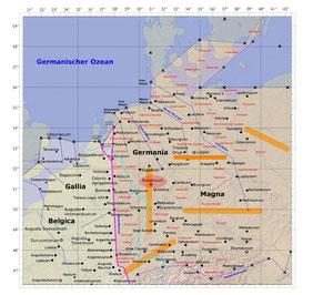 Abb. 3: senkrechter Rheinverlauf und deplatziertes Novaesium