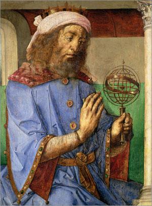 Abb.2: Portrait des Ptolemaios mit Armillarsphäre von Joos van Gent