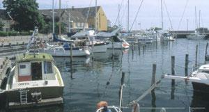 Rødvig on tyypillinen kalastus- ja huvivenesatama