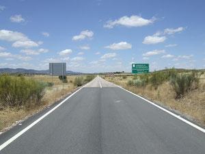 Grenze zwischen Andalusien und Extremadura