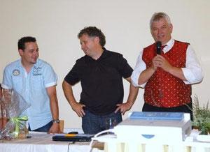 v.l.n.r. Markus Burtscher, Herbert Tschofen, Peter Grauf