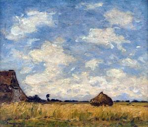 Louis BRAQUAVAL - Le champ de blé Musée Boucher-de-Perthes, Abbeville