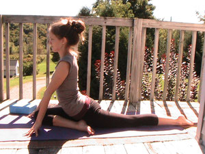 Kayla, my daughter, demonstrating Yin Yoga