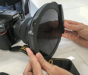 Photokina-Neuheit: Verbesserter Filterhalter von Haida für 100mm und 150mm series Polfilter und Verlaufsfilter, Foto: bonnescape