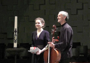 with Roel Dieltiens after the concert, (c) Igor Prokhorov