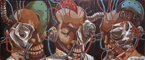 Bộ ba Liên minh, tranh sơn mài (2008)