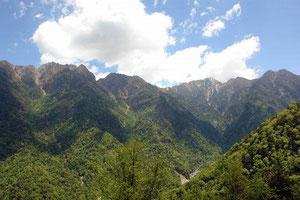 林道から見えた山