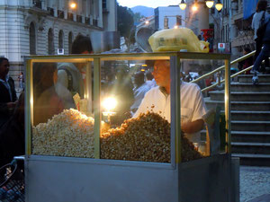 Popcornverkäufer im Centrum