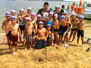 唐津で海水浴