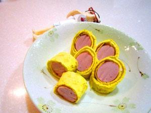 魚肉ソーセージの玉子ロール