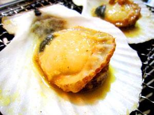 味噌風味の焼きホタテ
