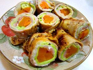 うわっ美味しい!塩麹豚の野菜ロール