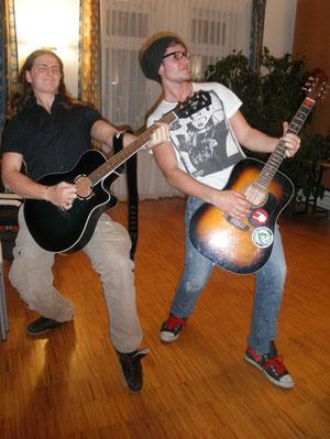 Zwei großartige Musiker, die bei meiner Vernissage gespielt haben!