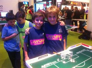 Javi y Kristian en la semifinal