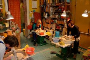 Keramikworkshop an der Töpferscheibe