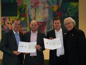 Balról: Mag. Rudi Roth, Mag. Molnár András, Rusza Csaba és DI Helmut Strobl