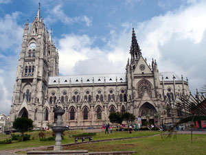 The Basilica del Voto Nacional in Quito
