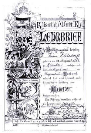 KWK Lehrbrief (Foto: Deutsches Schifffahrt Museum)