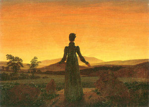 CASPAR DAVID FRIEDRICH - Donna all'alba