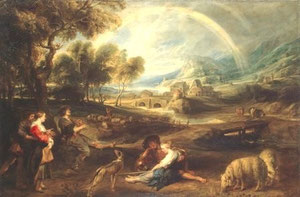 PIETER PAUL RUBENS - Landscape with Rainbow (1632-1635)