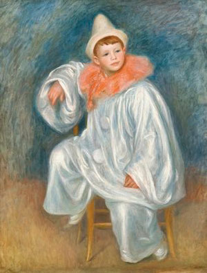 PIERRE AUGUSTE RENOIR - The white Pierrot