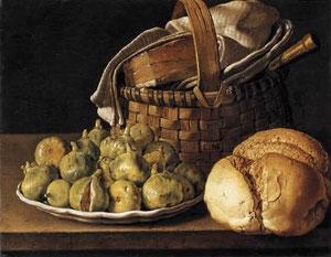 MELENDEZ - Natura morta con pane e fichi (1760)