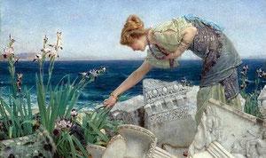 LAWRENCE ALMA-TADEMA - Tra le rovine 1902