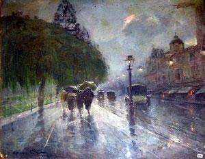 Gennaro Villani Via Foria sotto la pioggia
