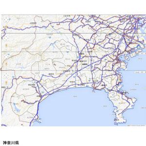 鉄道路線入り神奈川市町村区分図