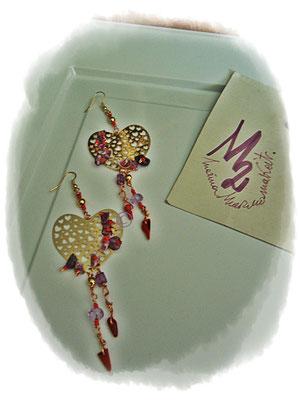 Wisteria heart  earrings - 12,00 Euro