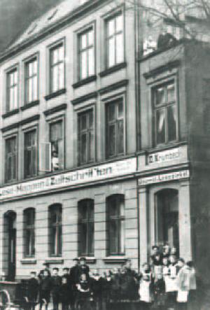 Gründungsgebäude in der Isebekstraße 1922