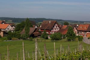 Ansicht Hirschen-Ensemble Oberstammheim mit Gasthof zum Hirschen