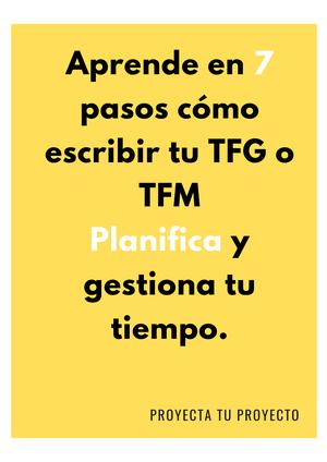 7 pasos para escribir tu TFG o TFM
