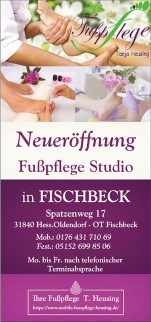 Neueröffnung Fußpflege-Studio