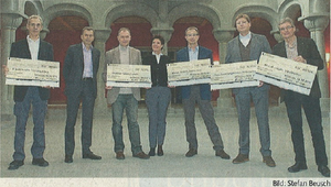 Patrick Henderson is one of the five recipients of a CHF18'000 donation from the Weinfelder Model Gruppe (Thurgauer Zeitung, 18.12.2012)