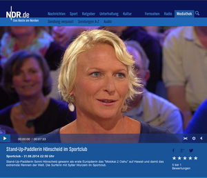 Sonni Hönscheid at the Sportclub NDR TV