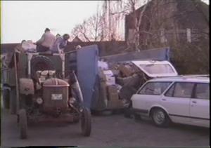 Altpapiersammlung in Hofheim (Bild von 1990)