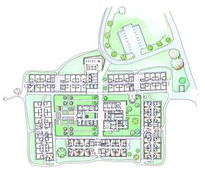 Wie ein kleines Dorf soll das Seniorenheim der AWO auf Süssendell angeordnet sein. 80 Arbeitsplätze sollen hier geschaffen werden.