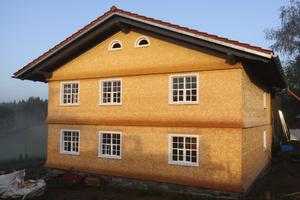 Fichte Rundschindeln am Allgäuer Bauernhaus