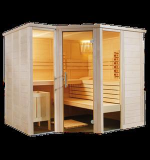 Sentiotec Sauna Arktis Infra+ Saunatechnik Saunazubehör
