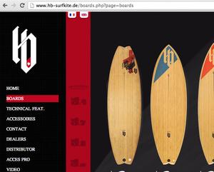 HB-Surfboards Website deutsch
