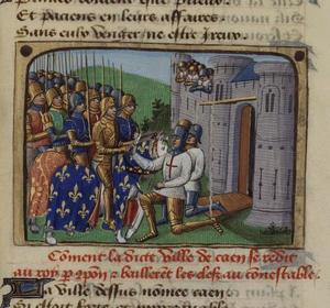 La reddition de Caen par Martial d'Auvergne