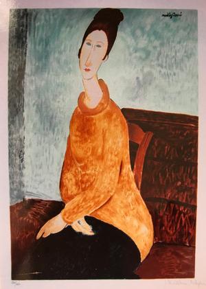 モジリアニ 「黄色いセーターを着たジャンヌ・エピュテルヌ」