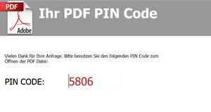 PDF PIN Code