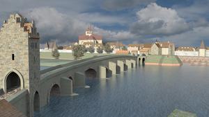 Weserbrücke: multimediales, interaktives Stadtmodell
