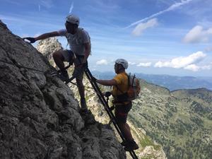 Hindelanger Klettersteig, Klettersteig am Nebelhorn
