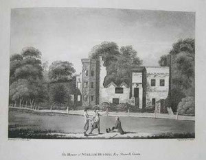 The house of William Russell after the 1791 Riots drawn by P H Witon Jnr. Image downloaded from Wikipedia and believed to be out-of-copyright.